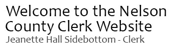 Welcome to the Nelson County Clerk Website
